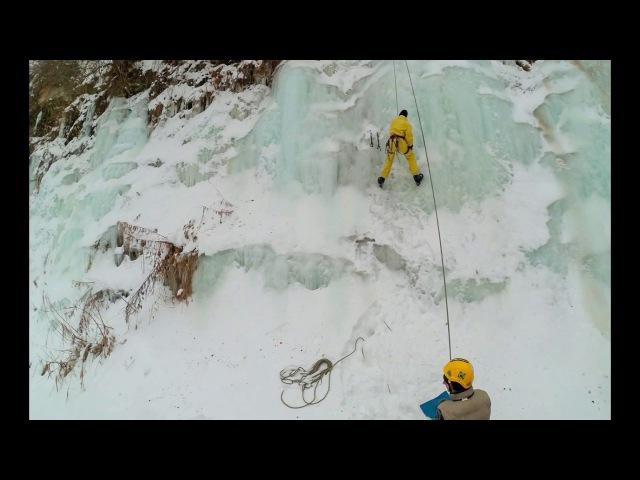 Ice climbing Time lapce