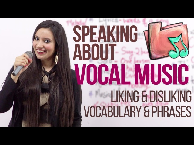 Speaking about 'Music' (Phrases - Liking Disliking Music) Free English lesson by Michelle