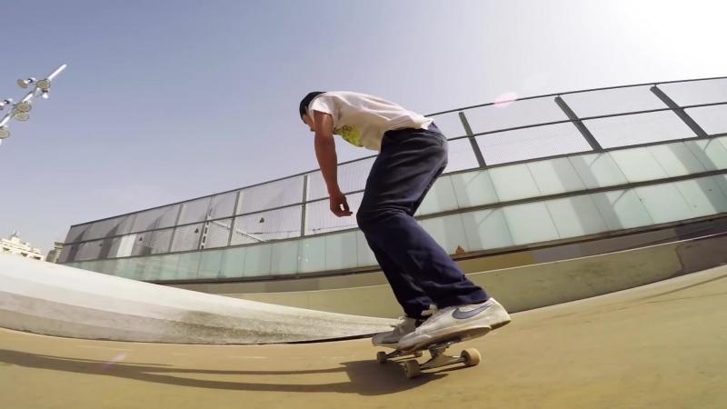 GoPro Skate Aurelien Giraud Skates 5 Lines in Barcelona