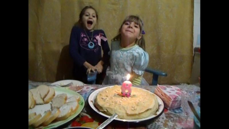День рождение Людмилочки...Мои 6 лет...15.12.2016 год...