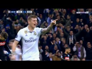 Toni Kroos Goal - Real Madrid vs Napoli 2-1 UCL 15/02/17
