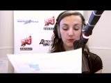 Российская модель и прекрасная певица Алёна Водонаева на радио