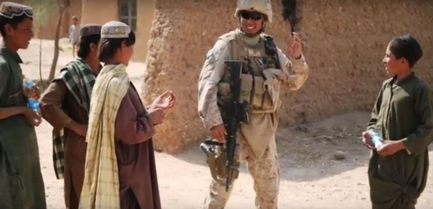 Майор Джордж Аников в Афганистане
