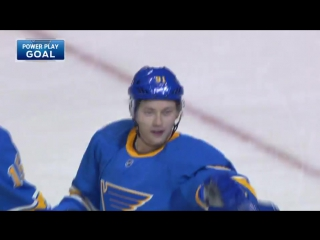 Paul stastny drops a pass back to vladimir tarasenko, who hammers home a wrist shot on a power play give the blues a 2-1