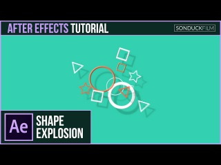 After Effects Tutorial: 2D Shape Particle Explosion - Motion Graphics