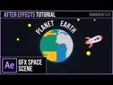 After Effects Tutorial: Create a PLANET Animation & 2D Space Motion Graphics