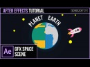 After Effects Tutorial Create a PLANET Animation 2D Space Motion Graphics