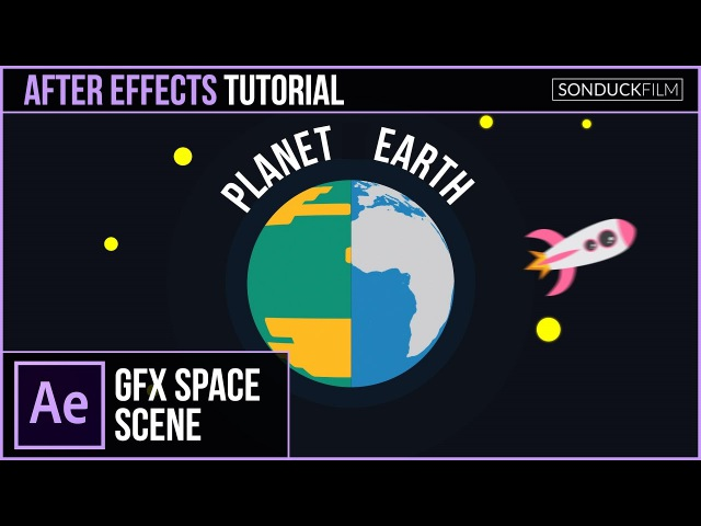 After Effects Tutorial: Create a PLANET Animation 2D Space Motion Graphics