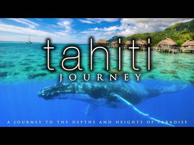 4K TAHITI JOURNEY ( Calming Music) | Whale Nature Scenes in UHD by Nature Relaxation™