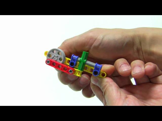 Кривошипно-шатунный механизм из Лего