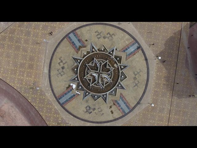 Мордовский логотип на площади тысячелетия г. Саранск