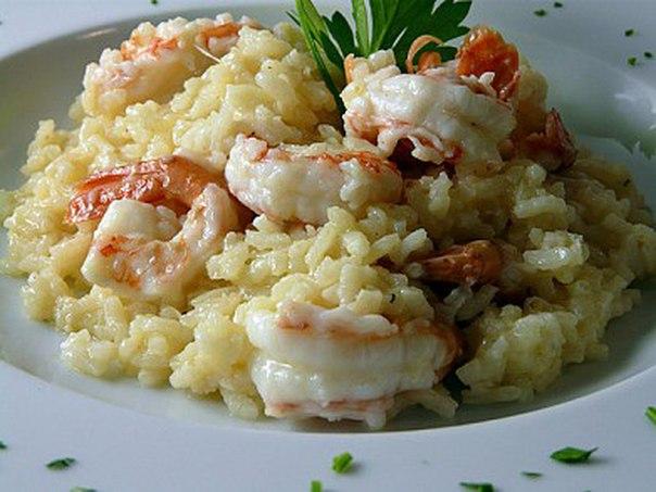 Рис в сливочном соусе с морепродуктами рецепт