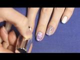 Рисунки гель лаком- дизайн ногтей с Цветами. Нежный маникюр Магнолия акварель гель лаками + стразы