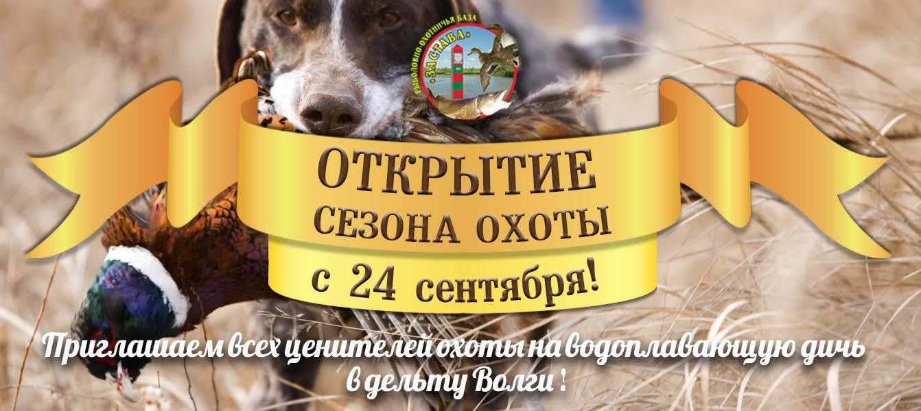 Сезон охоты в Астрахани