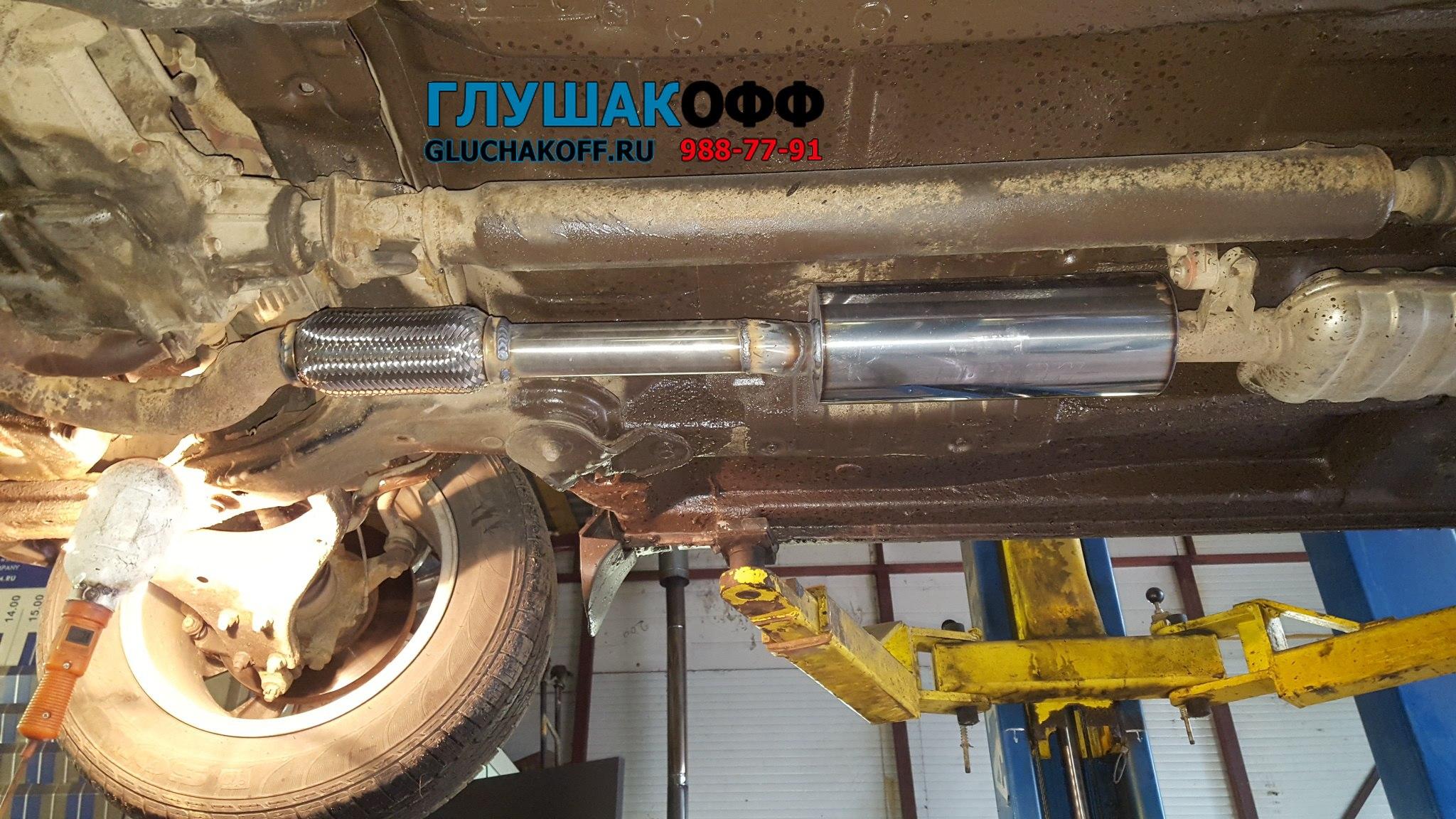 Hyundai Tucson 2.7 - Замена катализаторов на пламегасители
