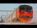RUSSIAN TRAINS: locomotive ТЭМ18ДМ🚂, 2ТЭ-10M🚆,ЭД4М🚅