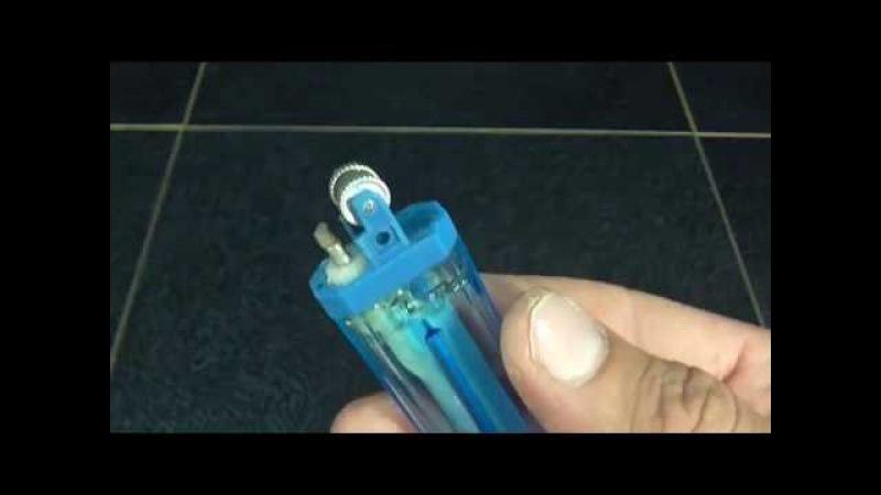 Как из одноразовой зажигалки сделать Бензиновую