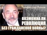 Возможна ли революция без гражданской войны? Профессор Попов