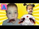 Вредный ребенок печет торт с ТАРАКАНАМИ и кидается ЕДОЙ/Bad Baby bakes into a cake! Food fight