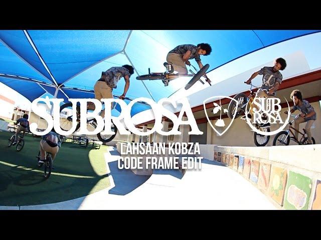 Lahsaan Kobza Code Frame Subrosa Brand BMX