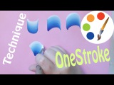 The secret of the OneStroke, How to paint Basic strokes, irishkalia
