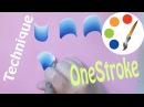 The secret of the OneStroke, How to paint Basic strokes, irishkalia
