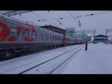 Электровоз ЭП2К-038 со скорым поездом