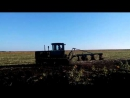 DT 75 B and PLN-4-35. Autumn ploughing of the soil. ДТ 75Б и ПЛН-4-35