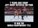 7 лет назад Джэфф Харди выиграл титул чемпиона мира