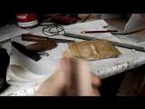 Нож язычника из ржавого напильника с деревянными ножнами  Pagan knife