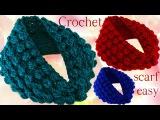 Aprende hacer bufanda infinita con hojas en relieve a Crochet