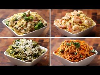 Спагетти четыре рецепта. Testy