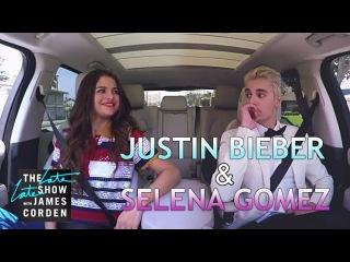 Justin Bieber Selena Gomez Carpool Karaoke