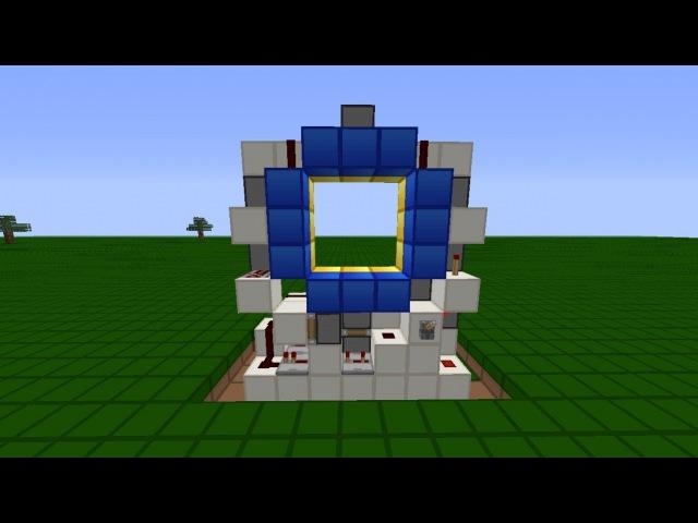 Самая компактная дверь 3x3 в Minecraft [Tutorial]