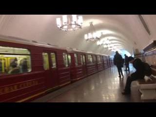 Метропоезд 81-717.5М Красная стрела на станции Фрунзенская