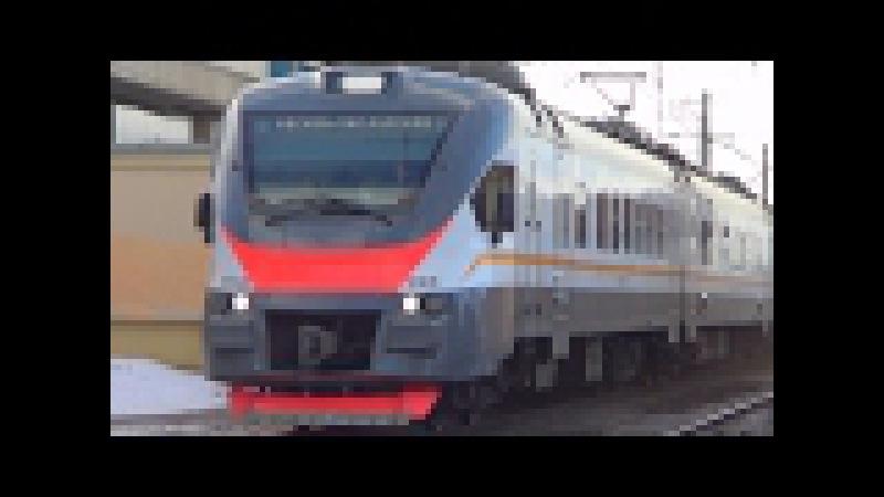 Электропоезд ЭП2Д-0008 ЦППК экспресс №7050 Тула - Москва