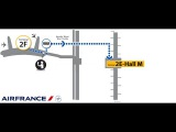 Air France Paris Charles de Gaulle Terminal 2 - Transfer from Terminal 2F to 2E gates M