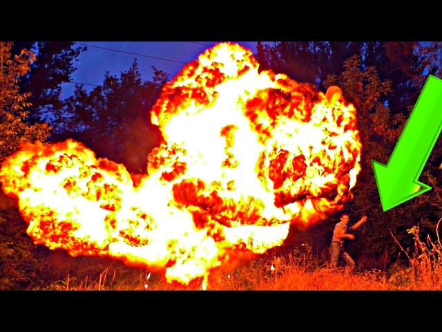 ✅КАРБИД, ВОДА и ОГРОМНЫЕ ШАРЫ голливудский взрыв и много пламени. Эксперименты ...
