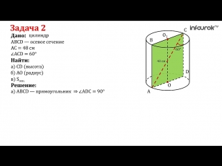 12. Площадь поверхности цилиндра   Геометрия 10 класс