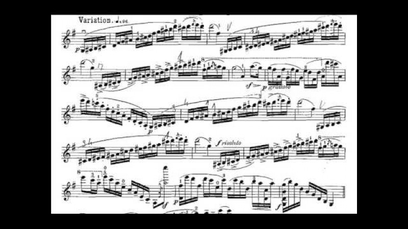 Vieuxtemps, Henry Fantasia Appassionata (begin) opus 35