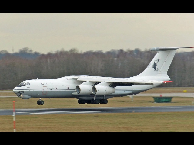 IL-76 MF JORDANIAN AIR FORCE arrival at Eindhoven