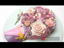 3D buttercream rose bouquet cake tutorial - Mother's Day - relaxing cake decorating