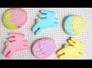 Testing AmeriColor Electric Neon Color Kit - Pretty Easter Bunny & Easter Egg Cookies