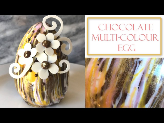 How to Make Chocolate Easter Egg   Multi-coloured design