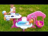 Беби борн кукла и Пупсики. Играем в куклы с новым набором Baby Born Игры для девочек Новые Игрушки