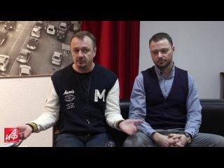 Владимир Шевельков и Илья Носков в пресс-центре АиФ Санкт-Петербурга к премьере фильма О чём молчат французы.