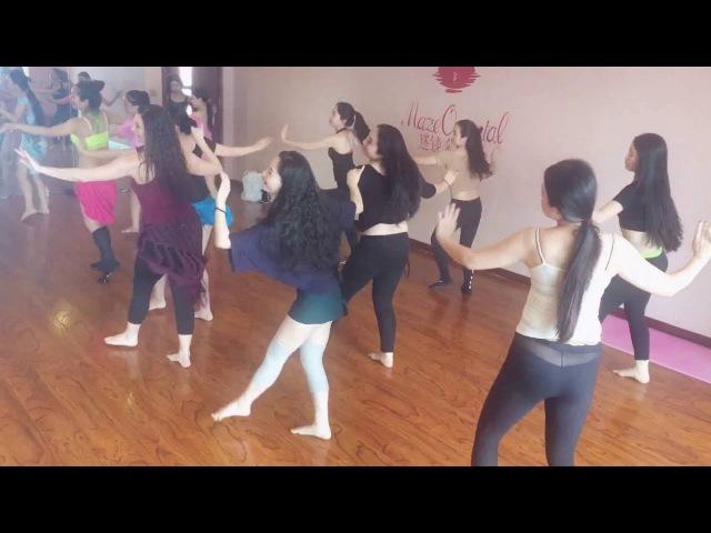 Yulia Redkous teacher and choreographer. Part of the lesson
