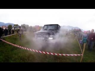 Уничтожение Mercedes-Benz G63 AMG в Карпатских горах