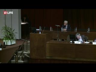 В РАН продолжается общее собрание с обсуждением текущего состояния дел и выборов президента Академии наук