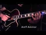 Jazz Guitar - IIm7 V7 Imaj7 - IIm7(b5) V7 Im Relative minor Key - Chord Scale